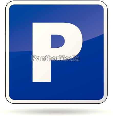vector parking znak