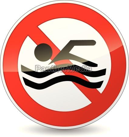 wektor nie znak plywania