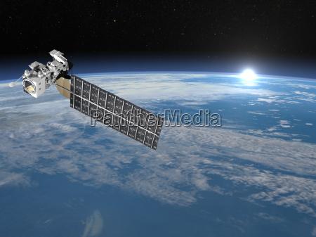 niebieski space kosmos grafika nauka komunikacja