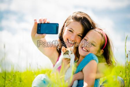 telefon zwierze domowe kuscheltier pluszak zdjecie