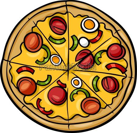 ilustracja kreskowka pizza wloski