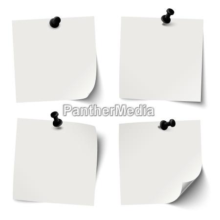 kolekcja kolorowych sticky dokumenty z czarnym