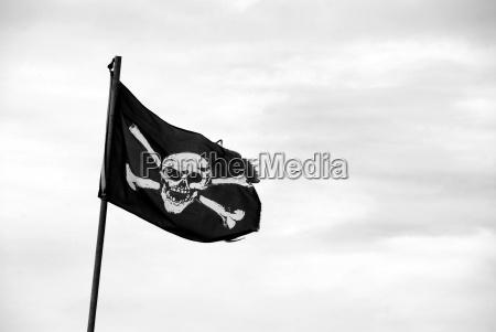 czaszka skrzep trupia czaszka flaga bandera