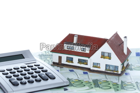 money bill with house