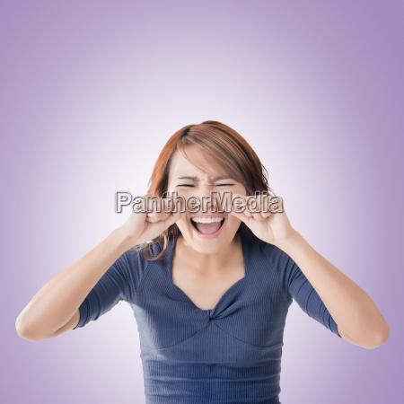 cara de mujer asiatica