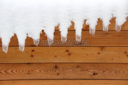 zima zimowy sopel sople szablon planke