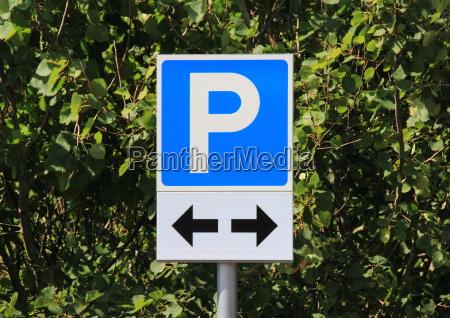 niebieski litera list zaparkowac parkowanie zarejestruj