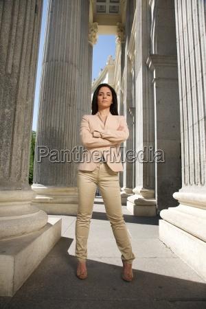 challenging businesswoman
