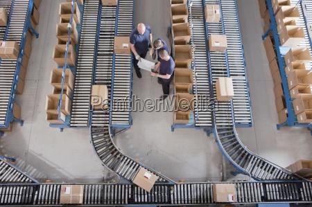 pracownicy zebranych wsrod pol na przenosnikach