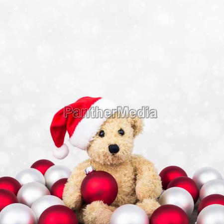 teddy bear balls christmas kogeln christmas