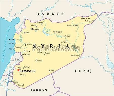 polityczna mapa syrii