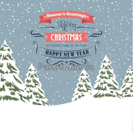 retro christmas ilustracja projekt typu swieta