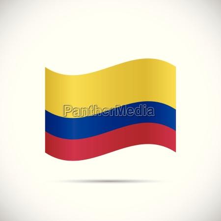 ilustracja flaga kolumbii
