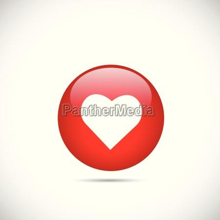 heart button illustration