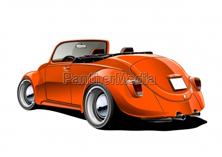 beetle cabrio pomaranczowe