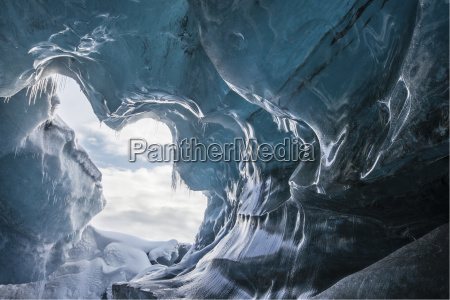 piekny mily wnetrze zima zimowy jaskinia