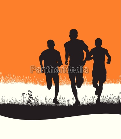 runners in nature