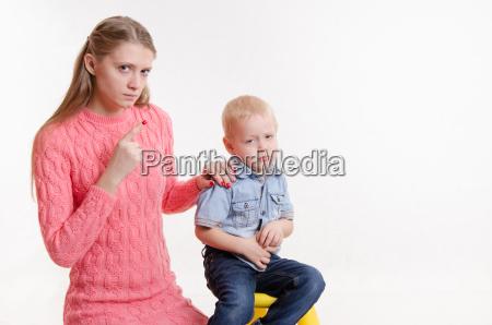 dziecko nie chce sluchac mojej matki