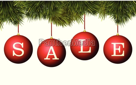 christmas sale banner advertisement red