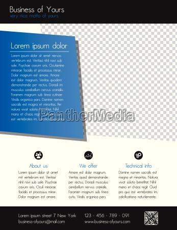 szablon business flyer czysty nowoczesny design