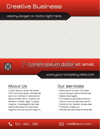 business multipurpose flyer template red