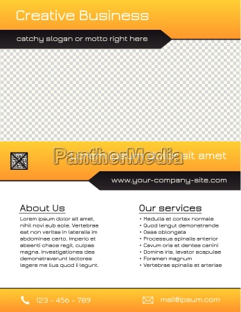 business multipurpose flyer template yellow