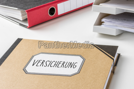 biuro biurko ubezpieczenie abheften przechowywac tack