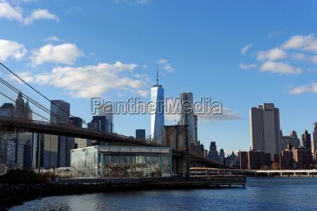usa skyline brooklyn mainhattan new york