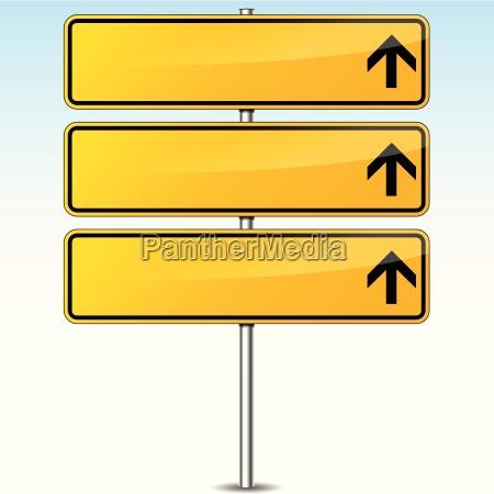 zolty pusty znak drogowy