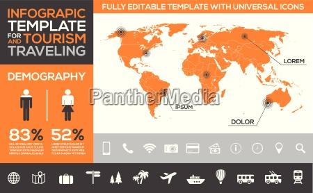szablon infografiki dla turystyki podrozy i