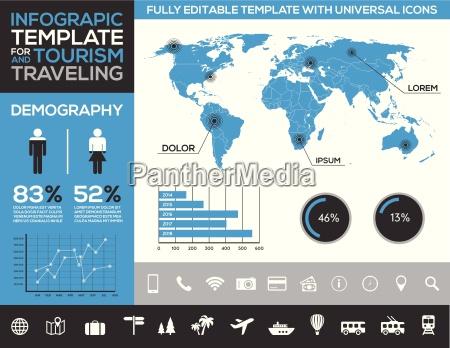 infografika szablon dla turystyki podrozy i