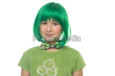 cute pretty young girl wearing a
