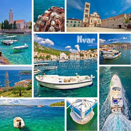 kolaz turystyczny na wyspie hvar