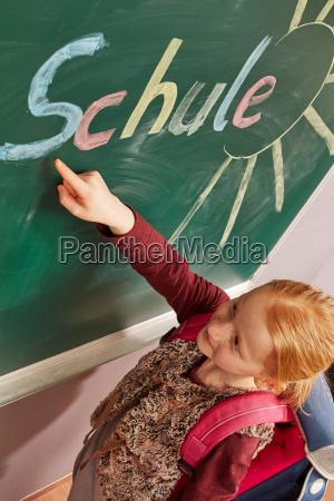 dziewczyna pokazano na planszy