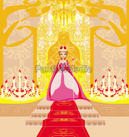 beautiful young queen in chamber