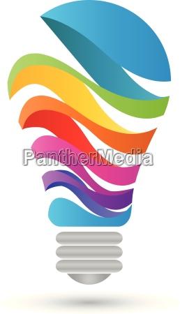 logo lampa kolorowy cyfrowy