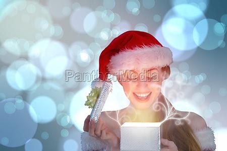 composite obraz sexy dziewczyna w santa