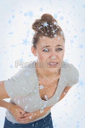 composite obraz mloda kobieta cierpi na