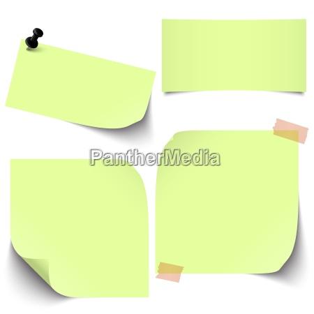 mala lepka zielona kolekcja papieru