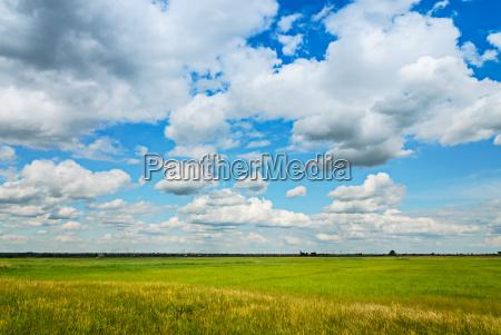 oblok chmura chmurka chmurki trawnik laka