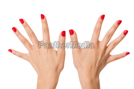 rece kobiet izolowane z pieknymi palcami