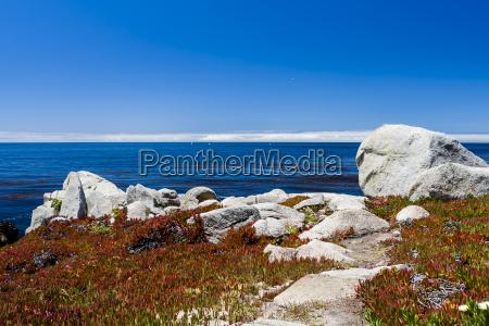 niebieski relaks horyzont kamien pestka zielony