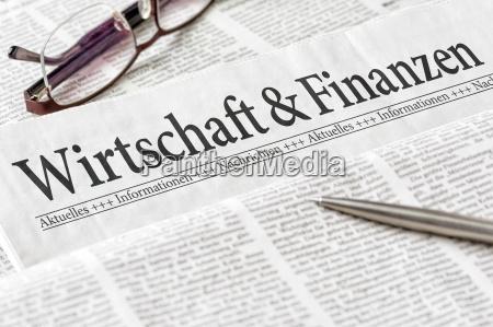 gazeta zatytulowana ekonomia i finanse