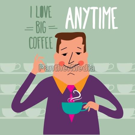 przerwa na kawe biznesmen picie kawy