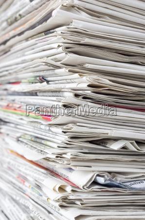 gazeta tageblatt gazety stos prasa prasy