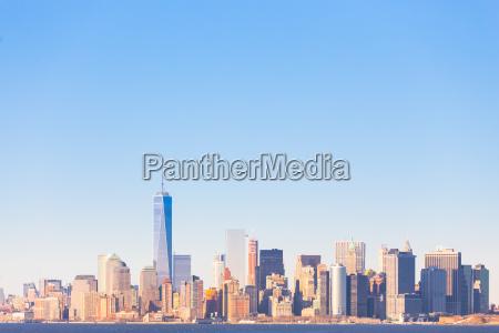 panorame centrum nowego jorku na manhattanie