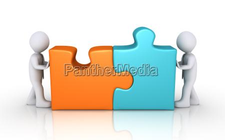 koncepcja umowa z puzzli