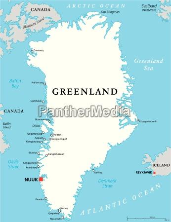 grenlandia mapa polityczna