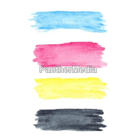 kolory cmyk wektor akwarela plamy