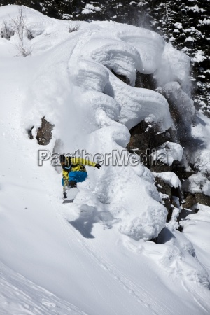 sport sporty zima zimowy usa skakanie